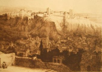 Henry Macbeth Raeburn; 'Alhambra, Spain' 1893.